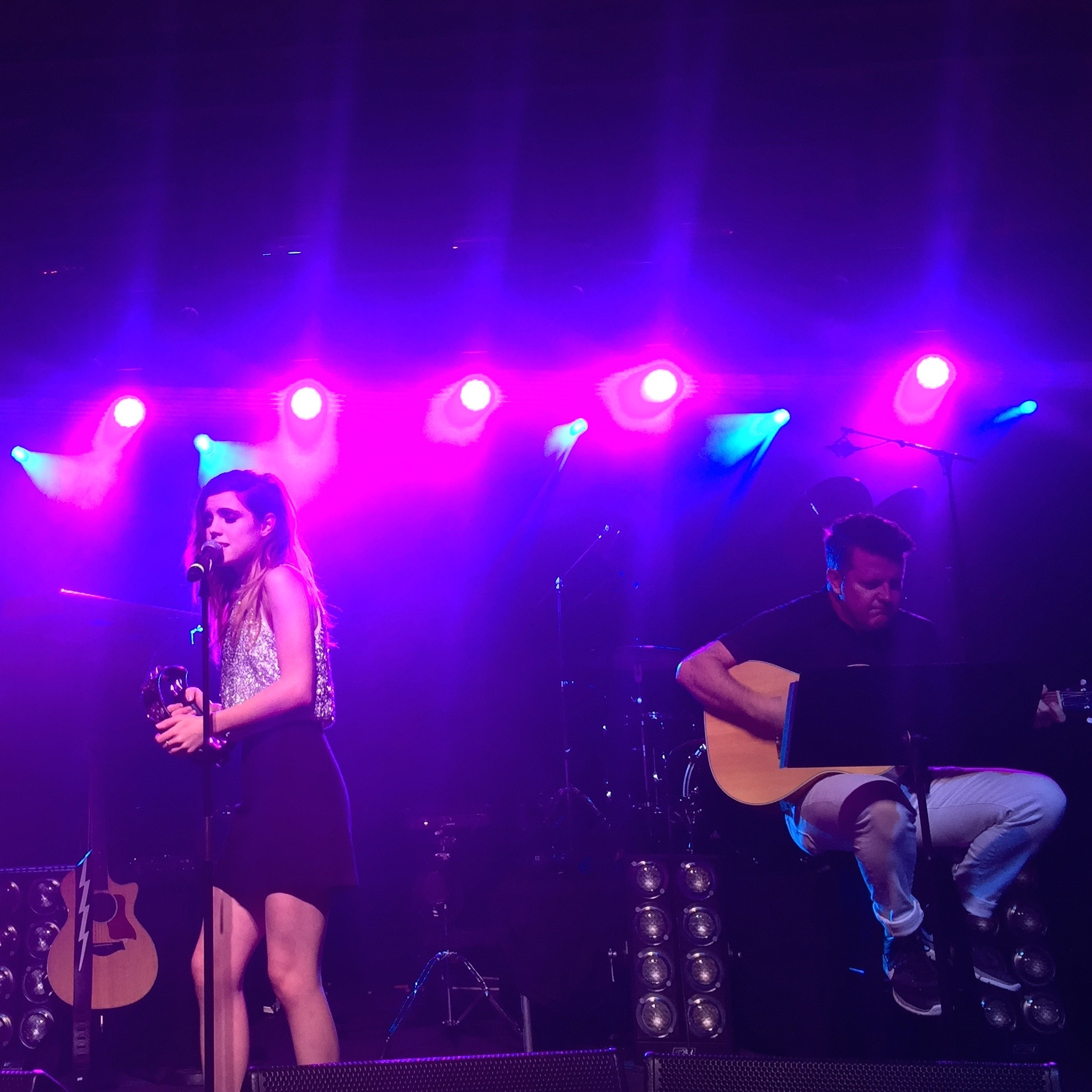 Sydney Sierota of Echosmith performing an acoustic set at the Palmer House during Hilton@Play.