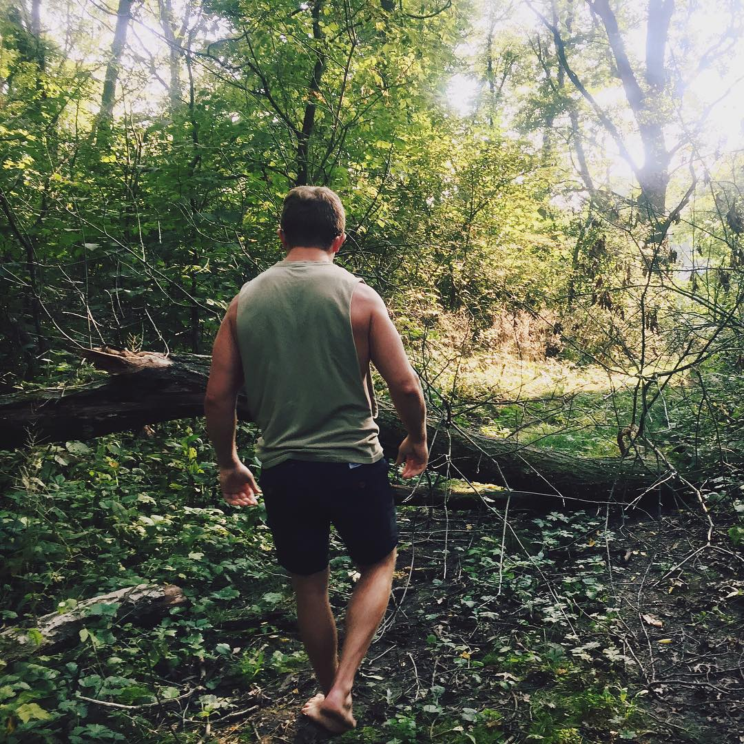 Exploring the forest with my friend James in Harvard, IL over Labor Day weekend.