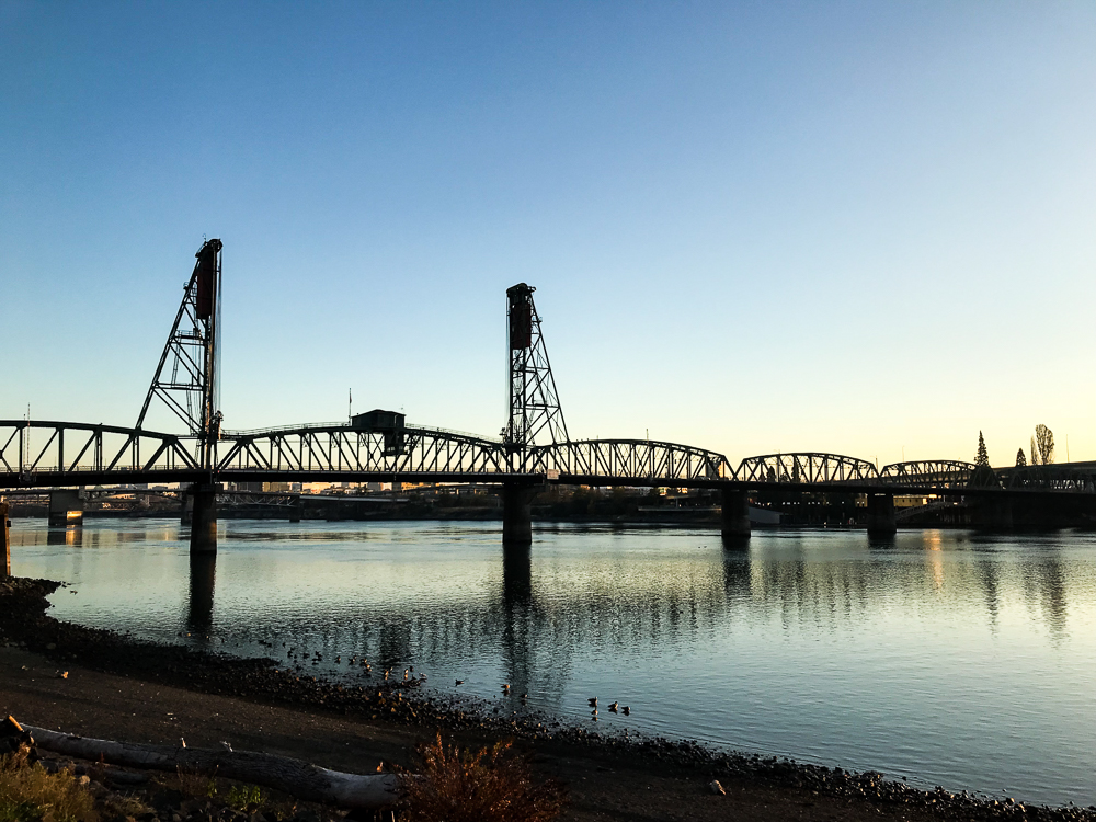 Portland, Oregon - Willamette River Sunrise