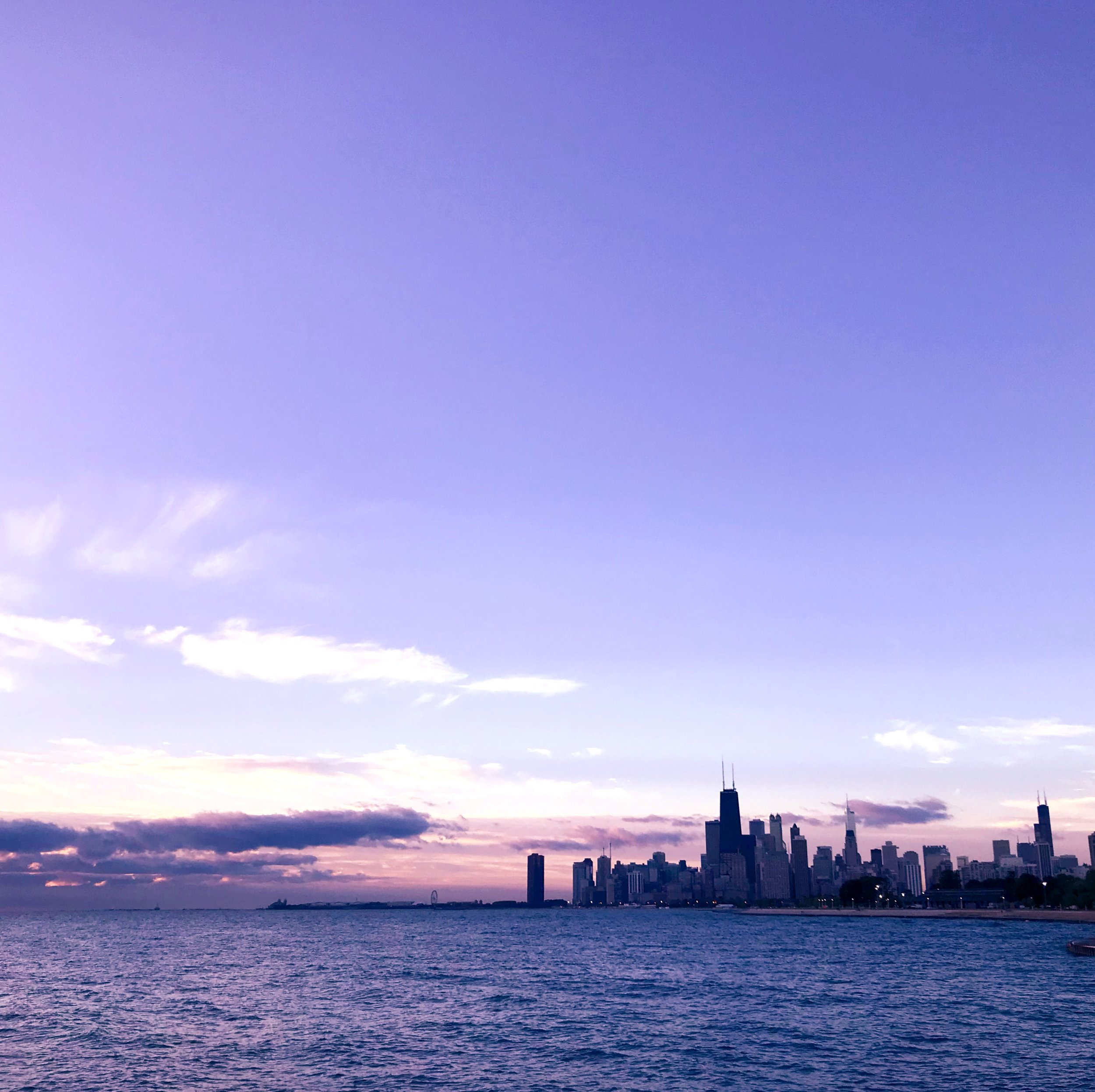 September 2017 - Chicago sunrise on Lake Michigan.