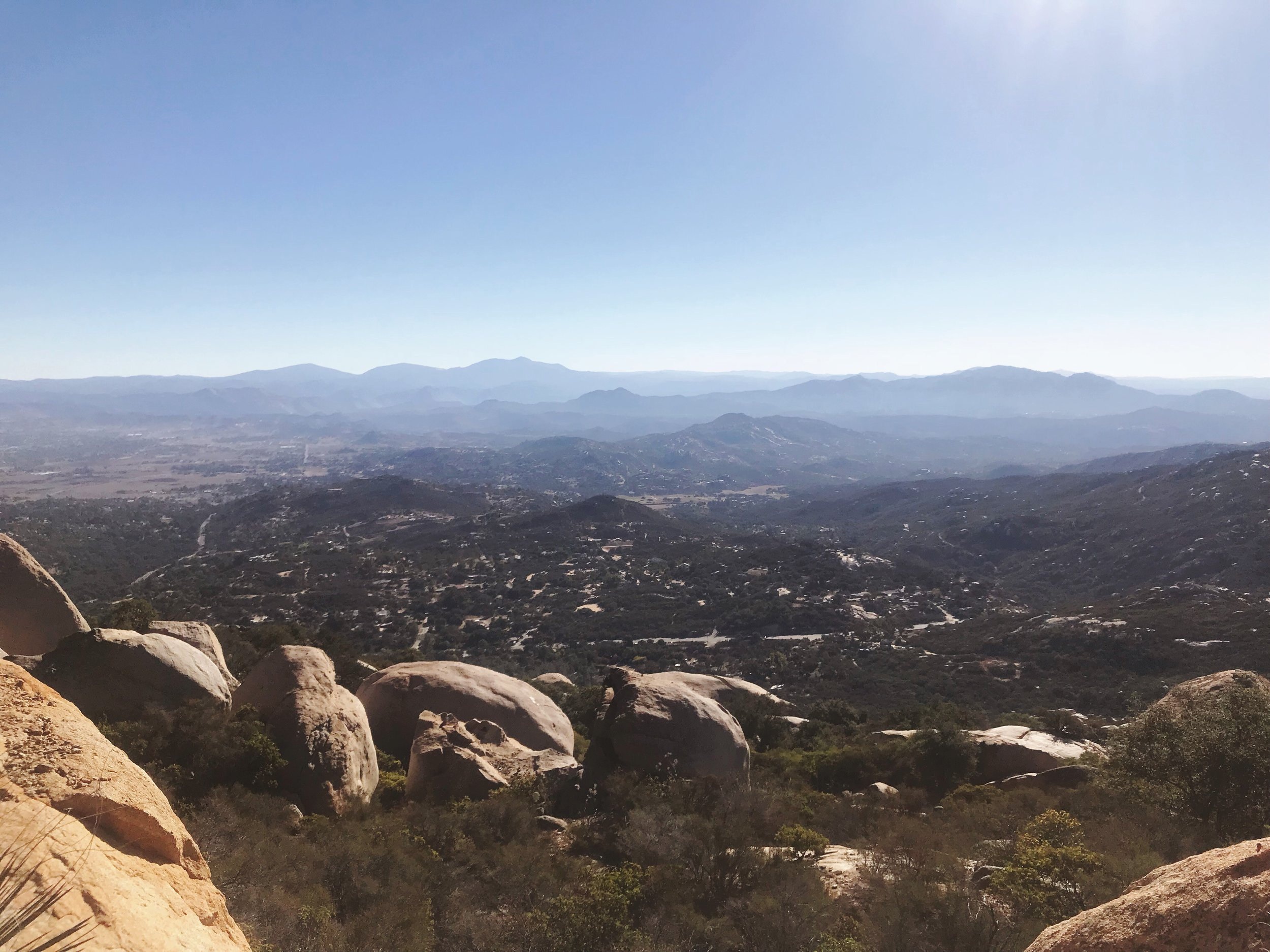 October 27th, 2018 - A view from near the top of the hike. So cool to live within driving distance of mountains!