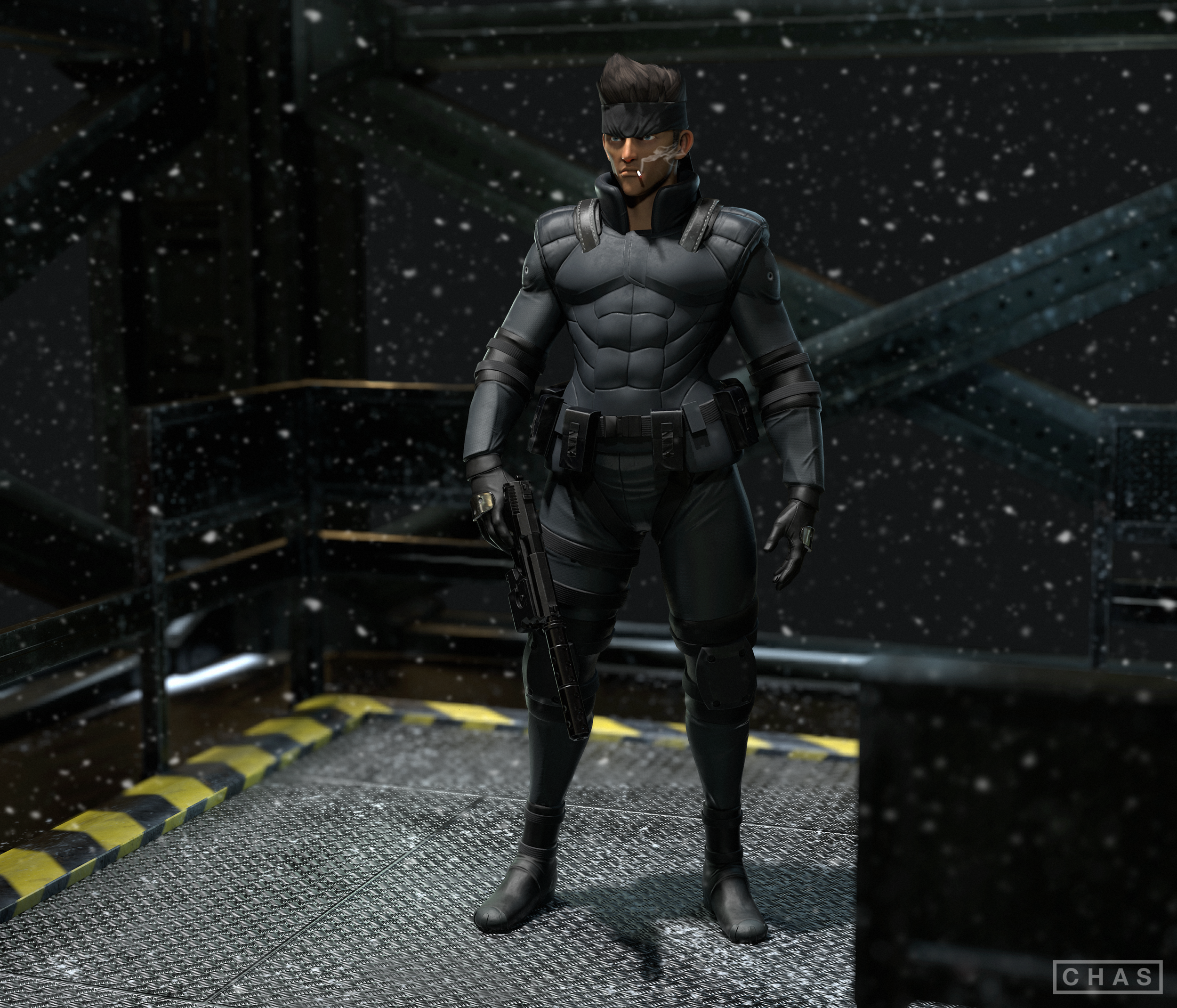 Solid Snake Mgs1 Chas Elterman