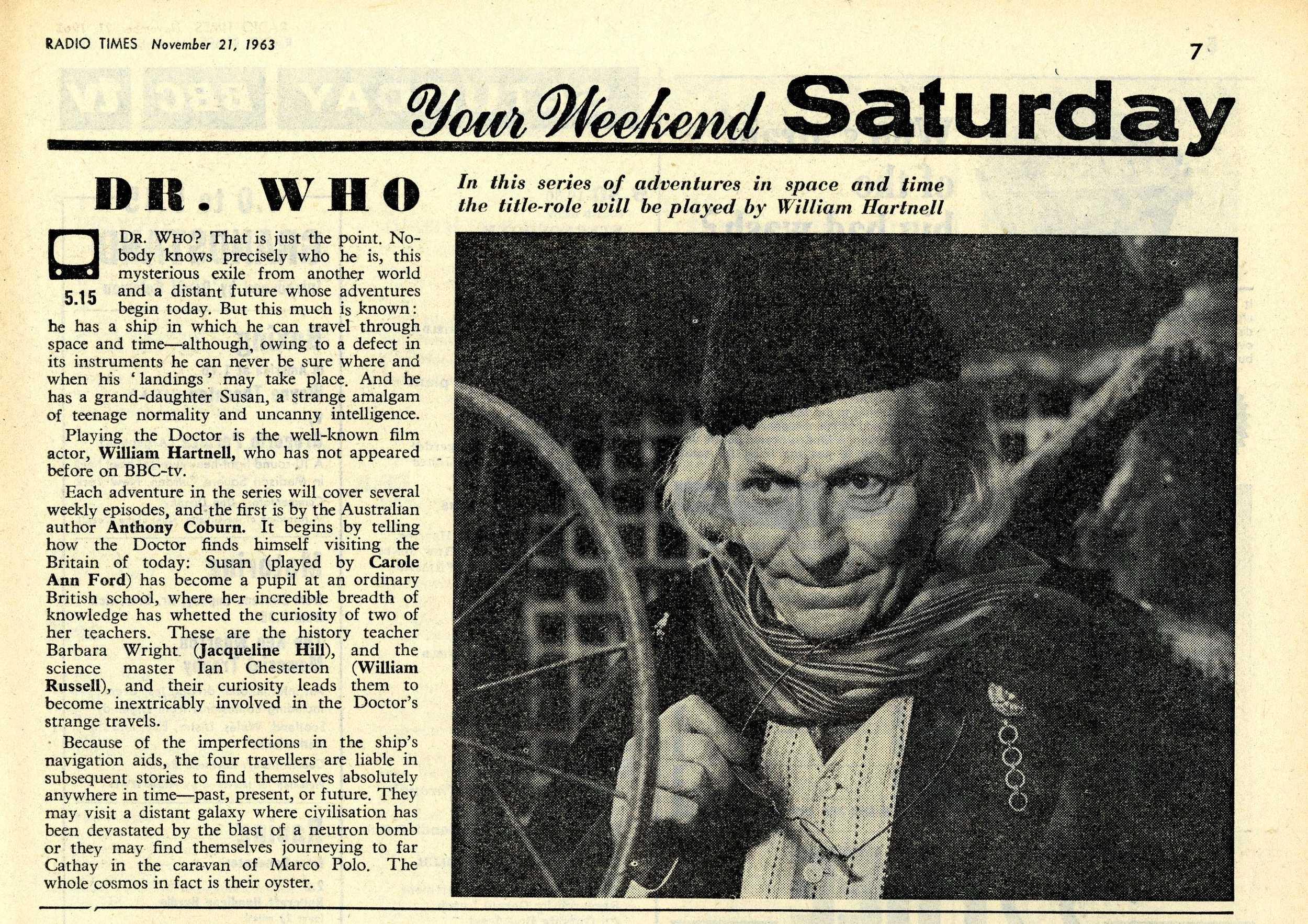Radio Times, 23-29 November 1963