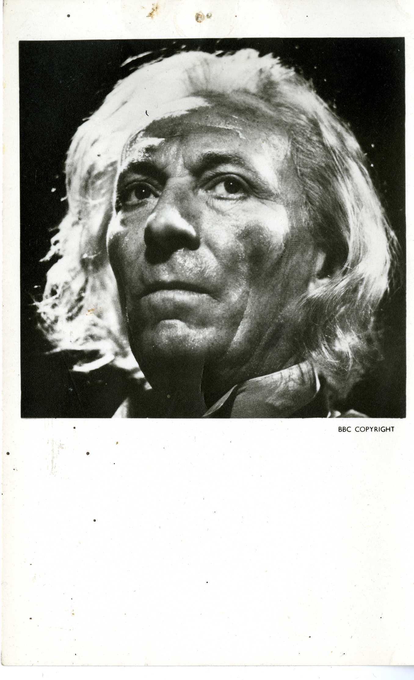 Promotional cast card of William Hartnell in The Tribe of Gum