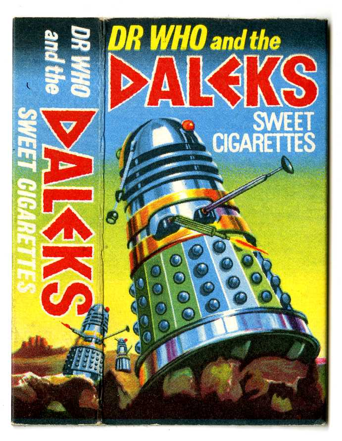 Cadet Sweets, Dr. Who and the Daleks Sweet Cigarettes, box front