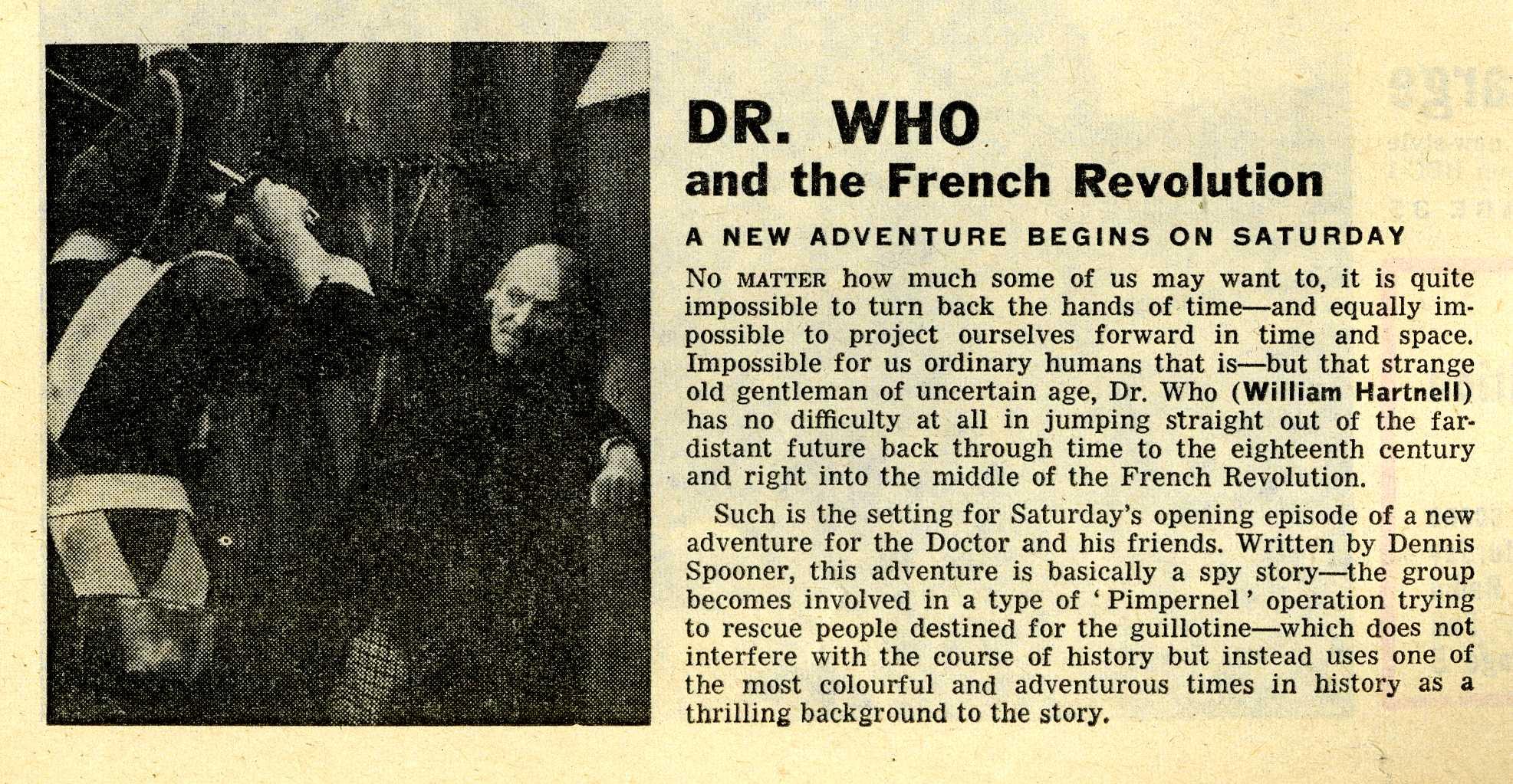 Radio Times. The Massacre of St. Bartholomew's Eve article, 8-14 August 1964