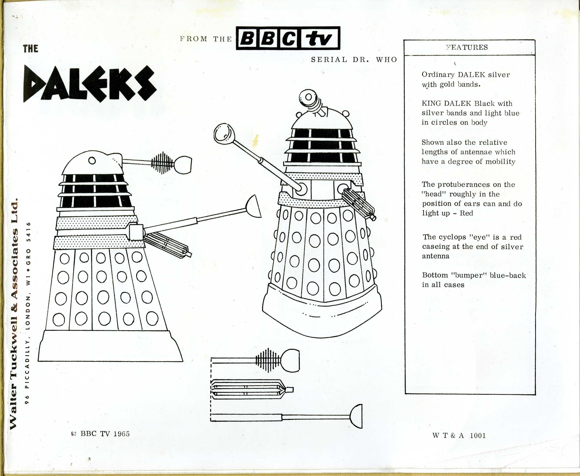 Contents of the Walter Tuckwell & Associates licensing catalogue