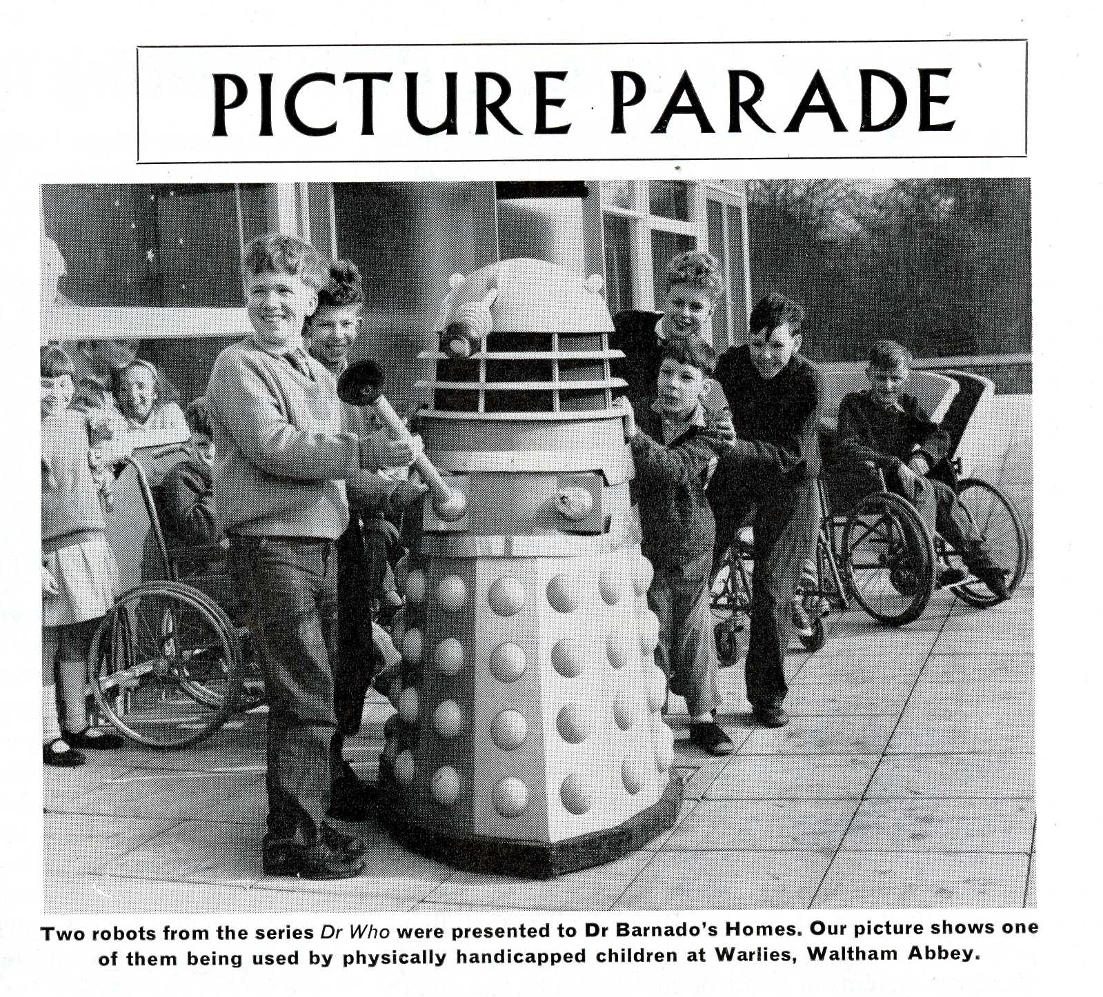 Ariel. Photo of the donation of a Dalek to a Dr. Barnado's Home, March 1964