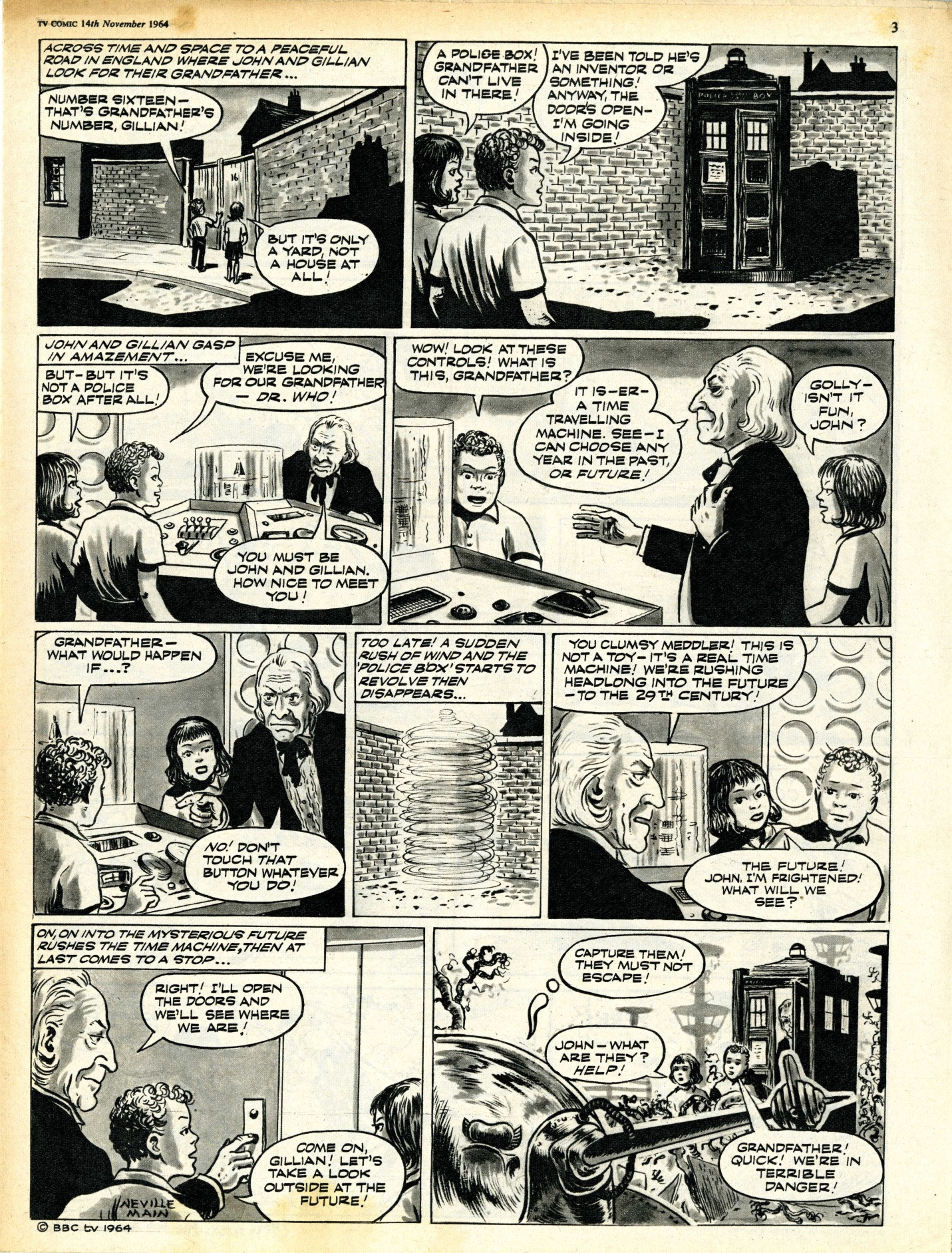 TV Comic No. 674, 14 November 1964, page 2 of The Klepton Parasites