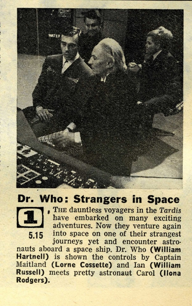 Radio Times. The Sensorites article, 20-26 June 1964