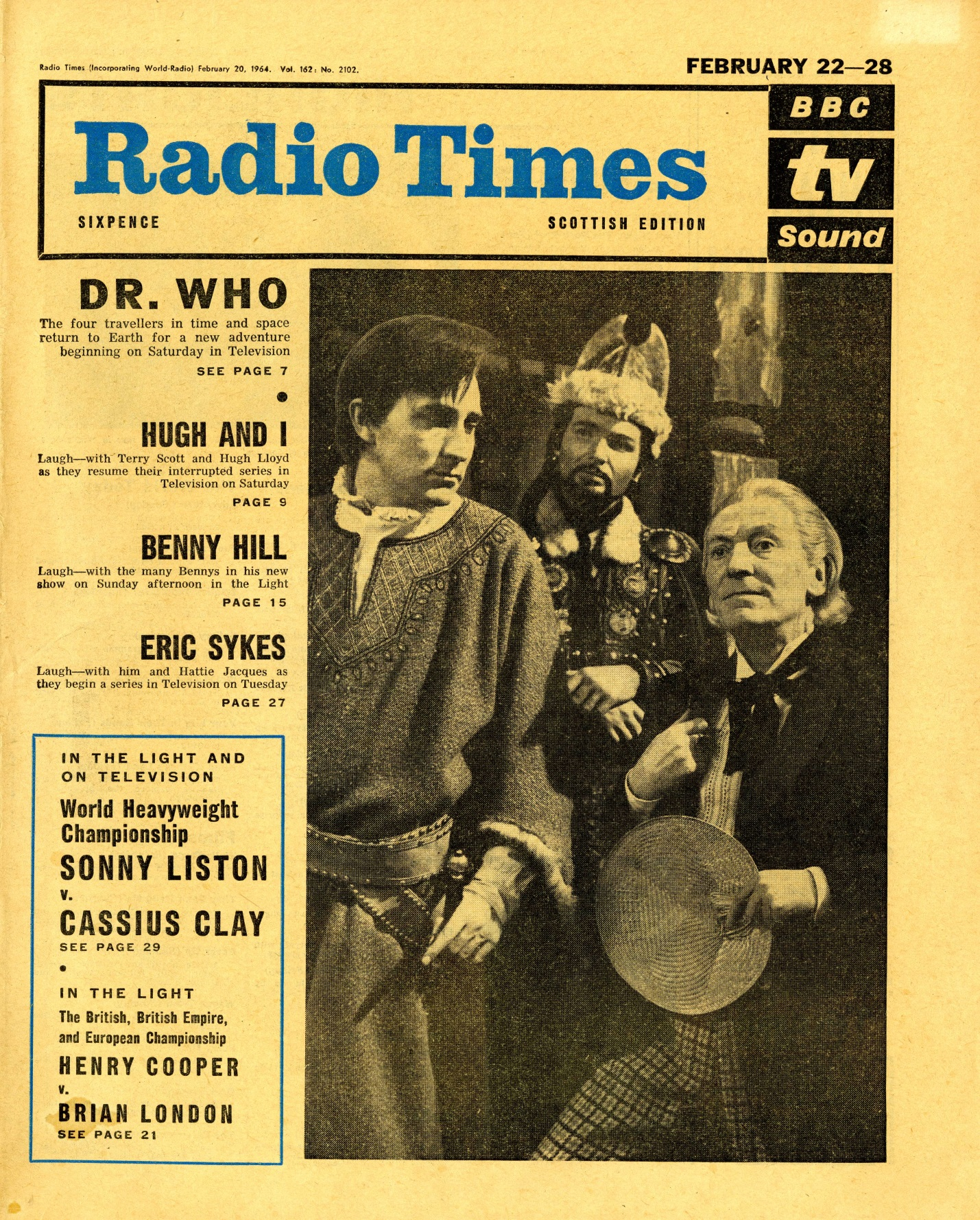 Radio Times. Marco Polo cover, 22-28 February 1964