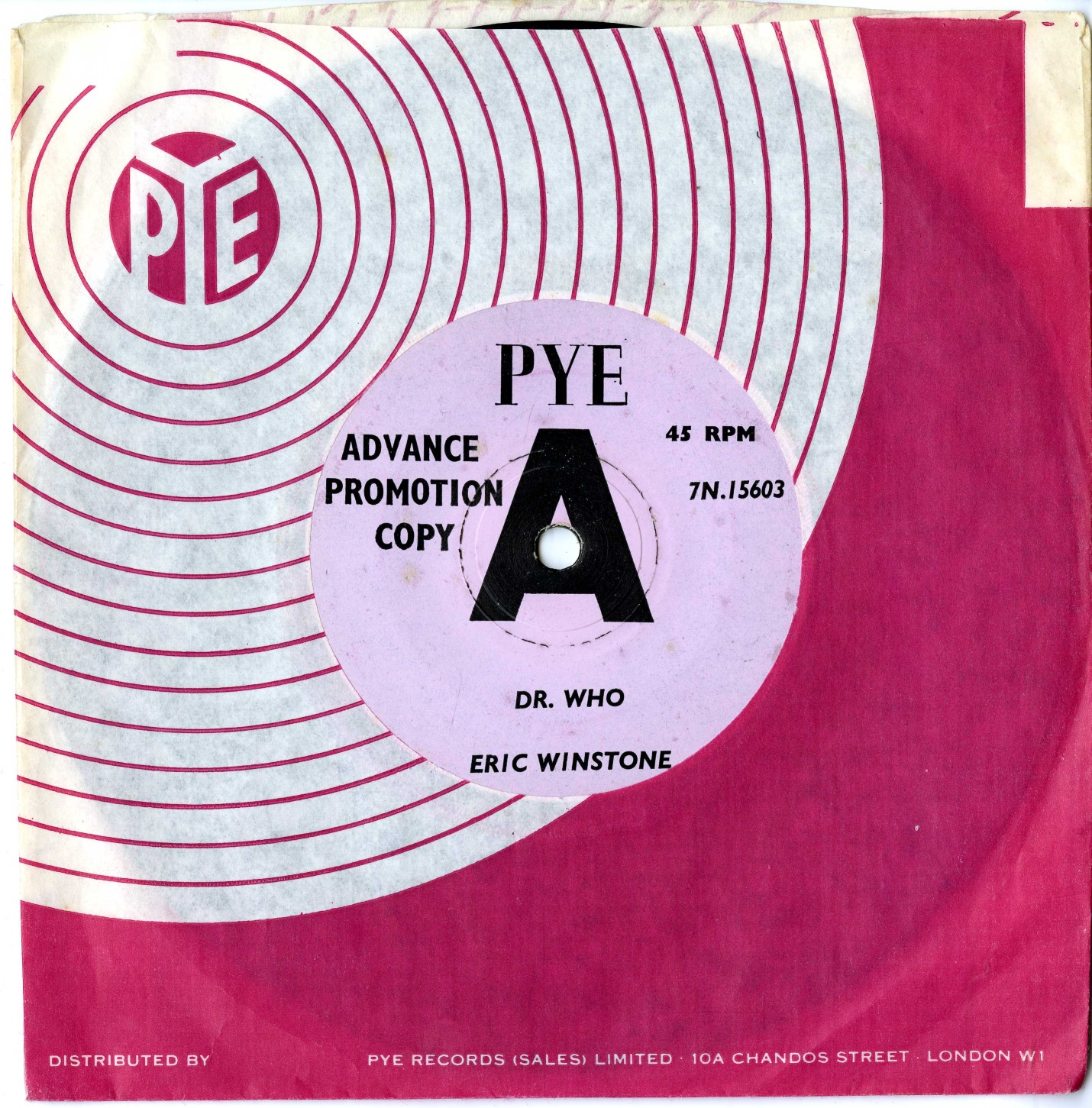 Dr. Who - Eric Winstone and his Orchestra, Pye Advance Promotion Copy