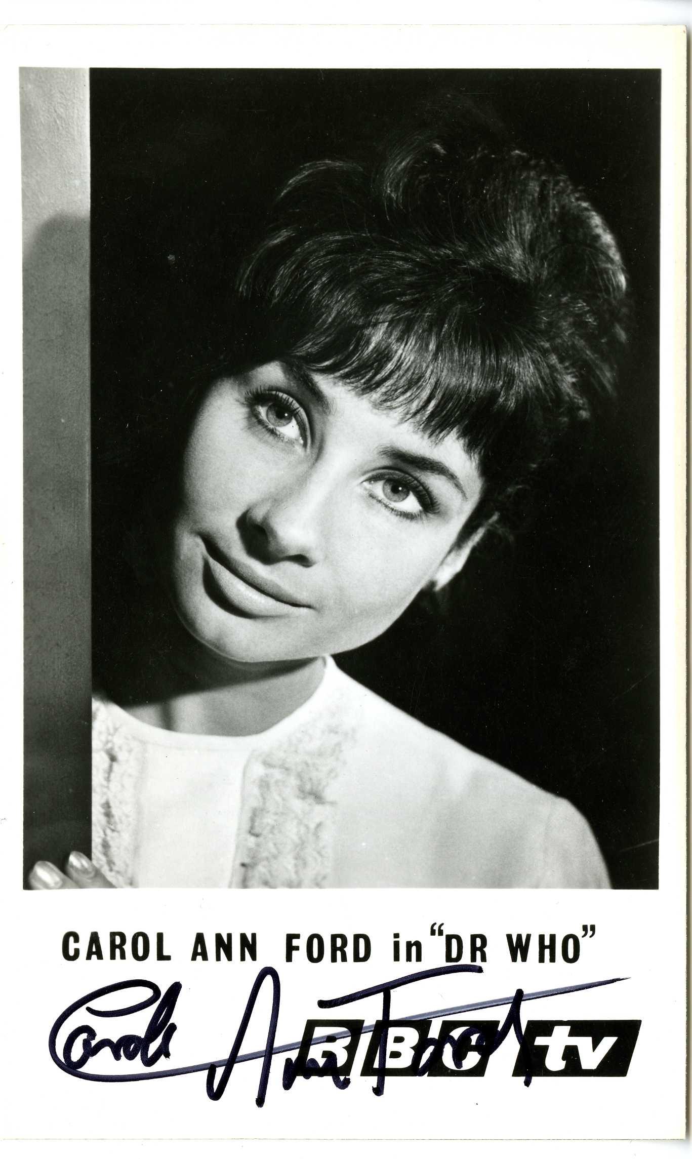 BBC TV Cast Card of Carole Ann Ford as Susan Foreman