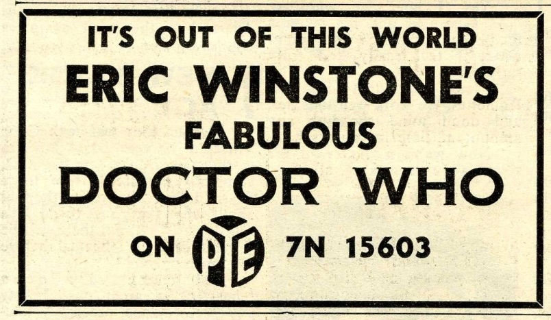 Dr. Who - Eric Winstone and his Orchestra, advert in Disc, 25th January 1964