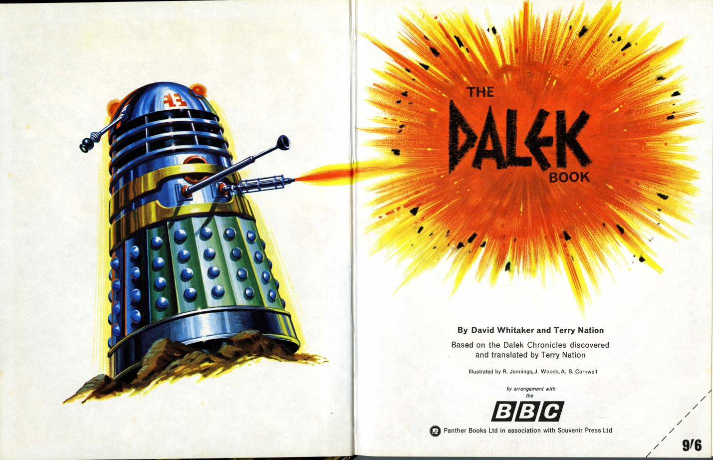 The Dalek Book frontispiece and title page