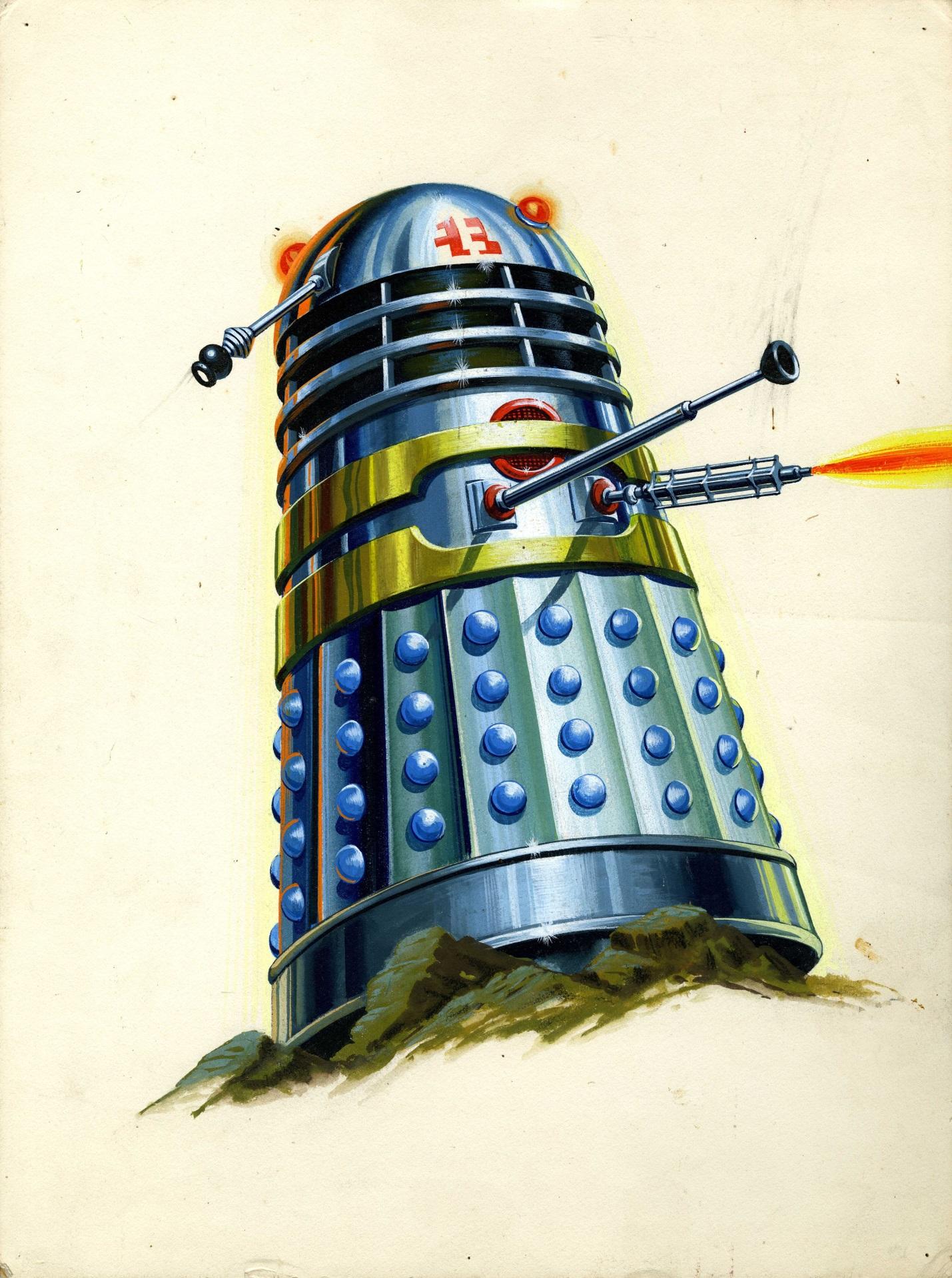 Original artwork for The Dalek Book frontispiece
