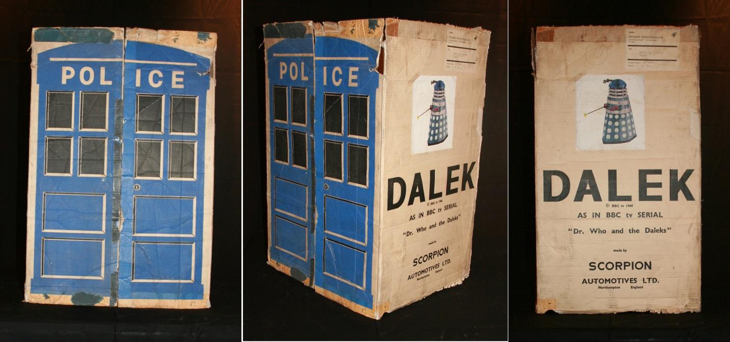 Scorpion Automotives Ltd. Dalek Playsuit shipping box
