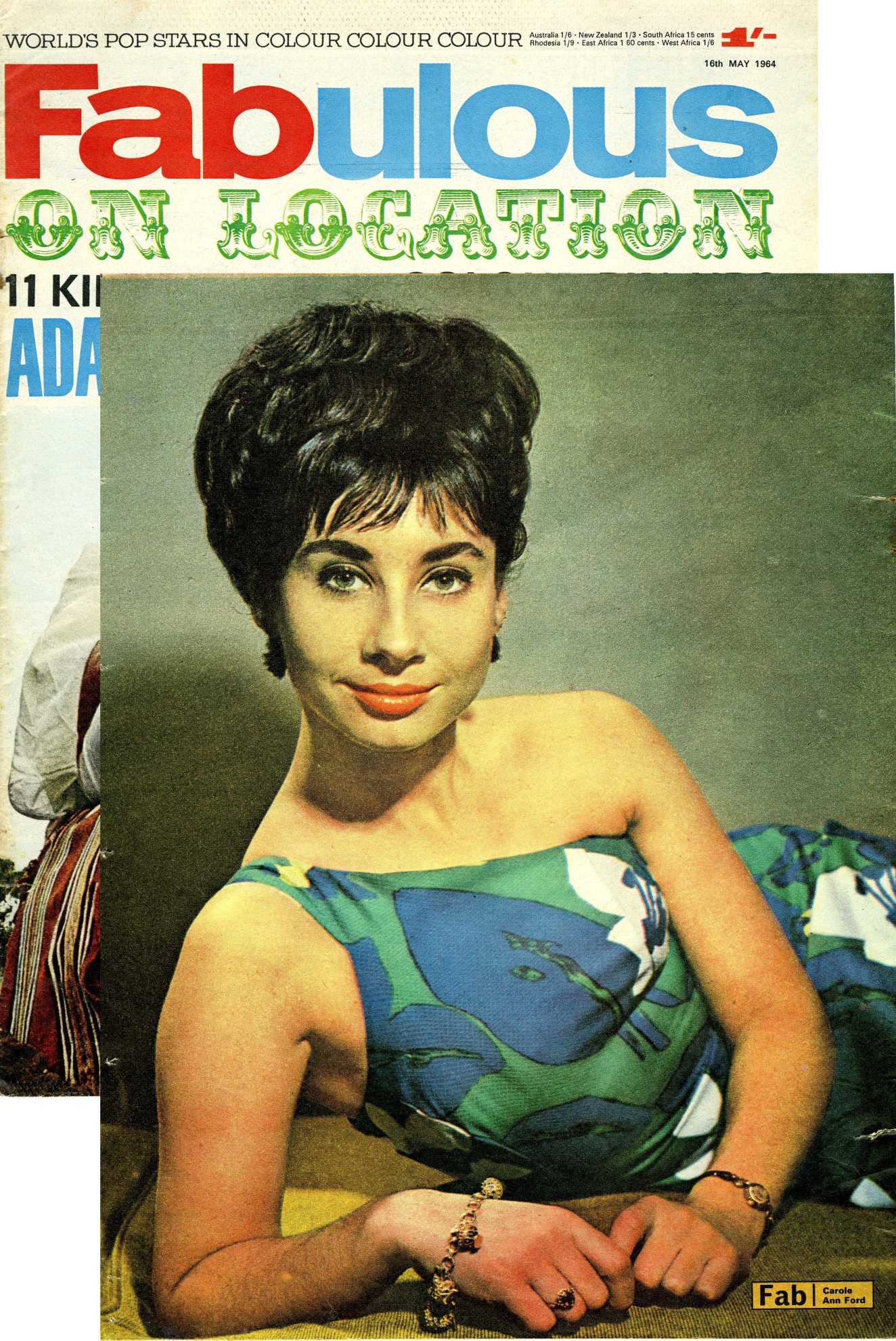 Fabulous, 16 May 1964 with Carole Ann Ford poster