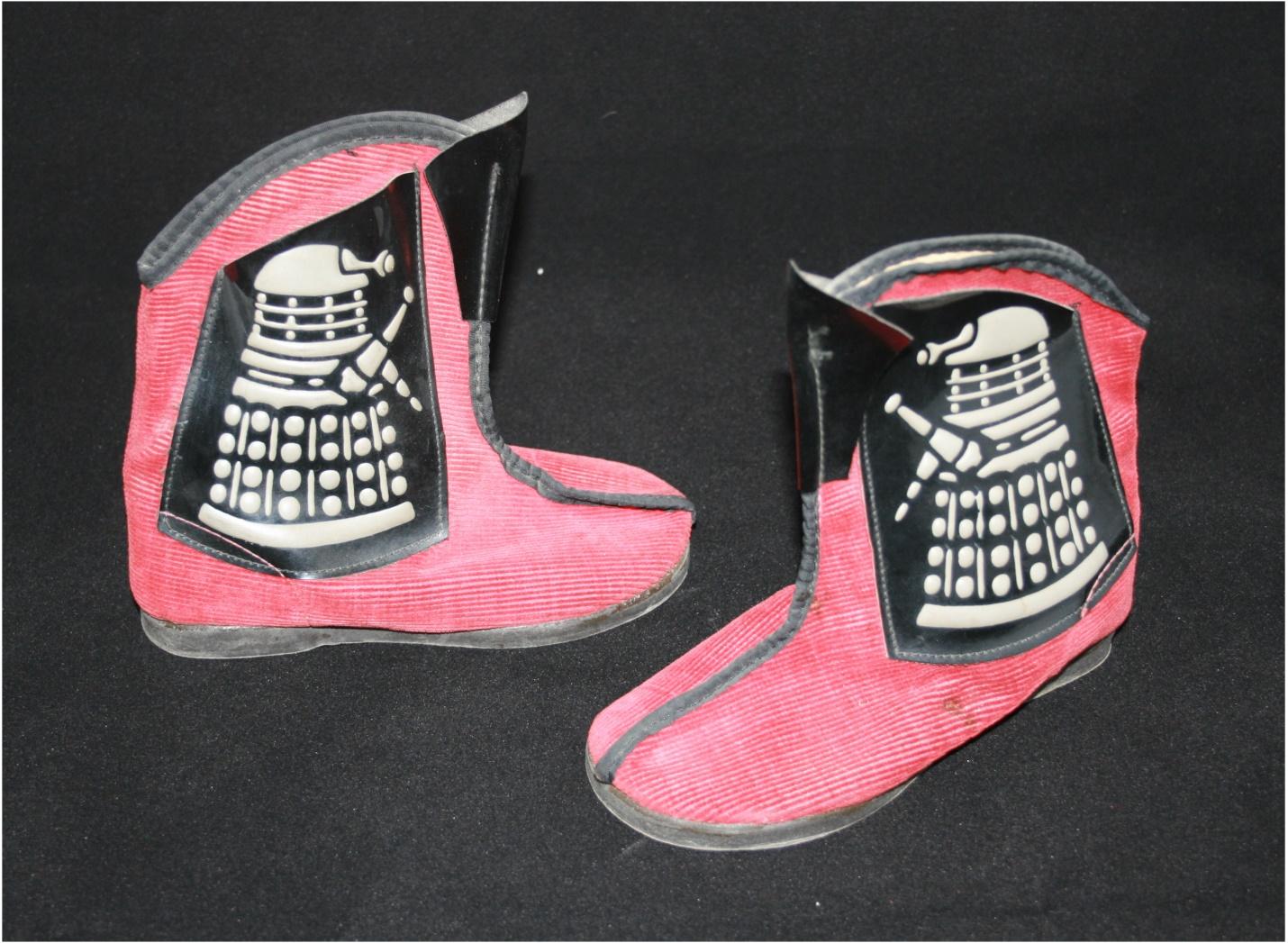 Furness Footwear Ltd., Dalek slippers (second version with embossed Daleks on plastic pockets). WANTED - Original shoebox.