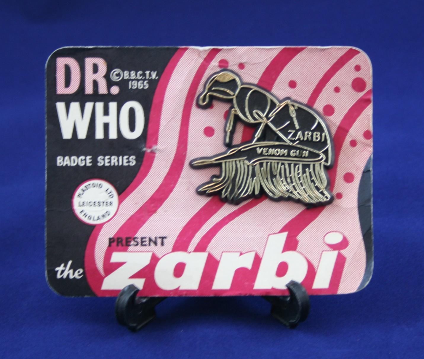 Plastoid Ltd., Dr. Who Badge Series present the Zarbi