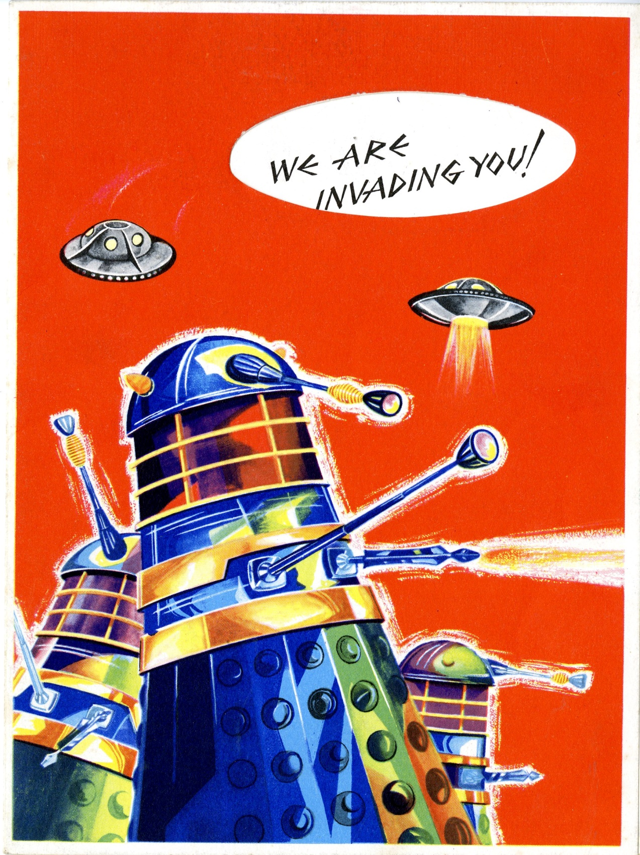 Newton Mills Ltd., Waldorf Division, Dalek birthday card front