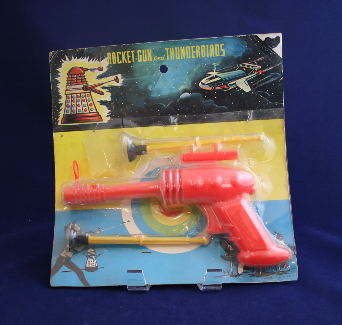 Unlicensed Dutch Rocket Gun and Thunderbirds, with Dalek image