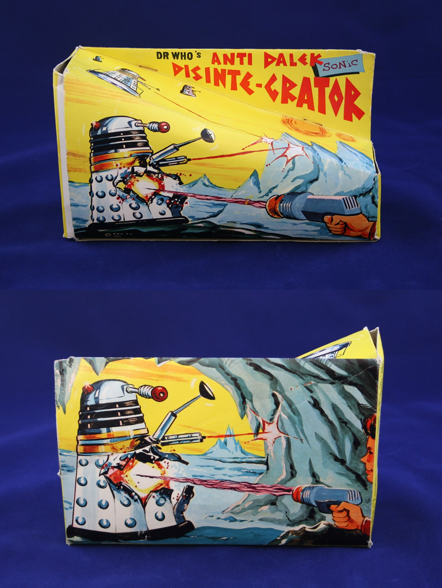 Lincoln International Ltd., Dr. Who's Anti-Dalek Sonic Disintegrator (front and rear of box)