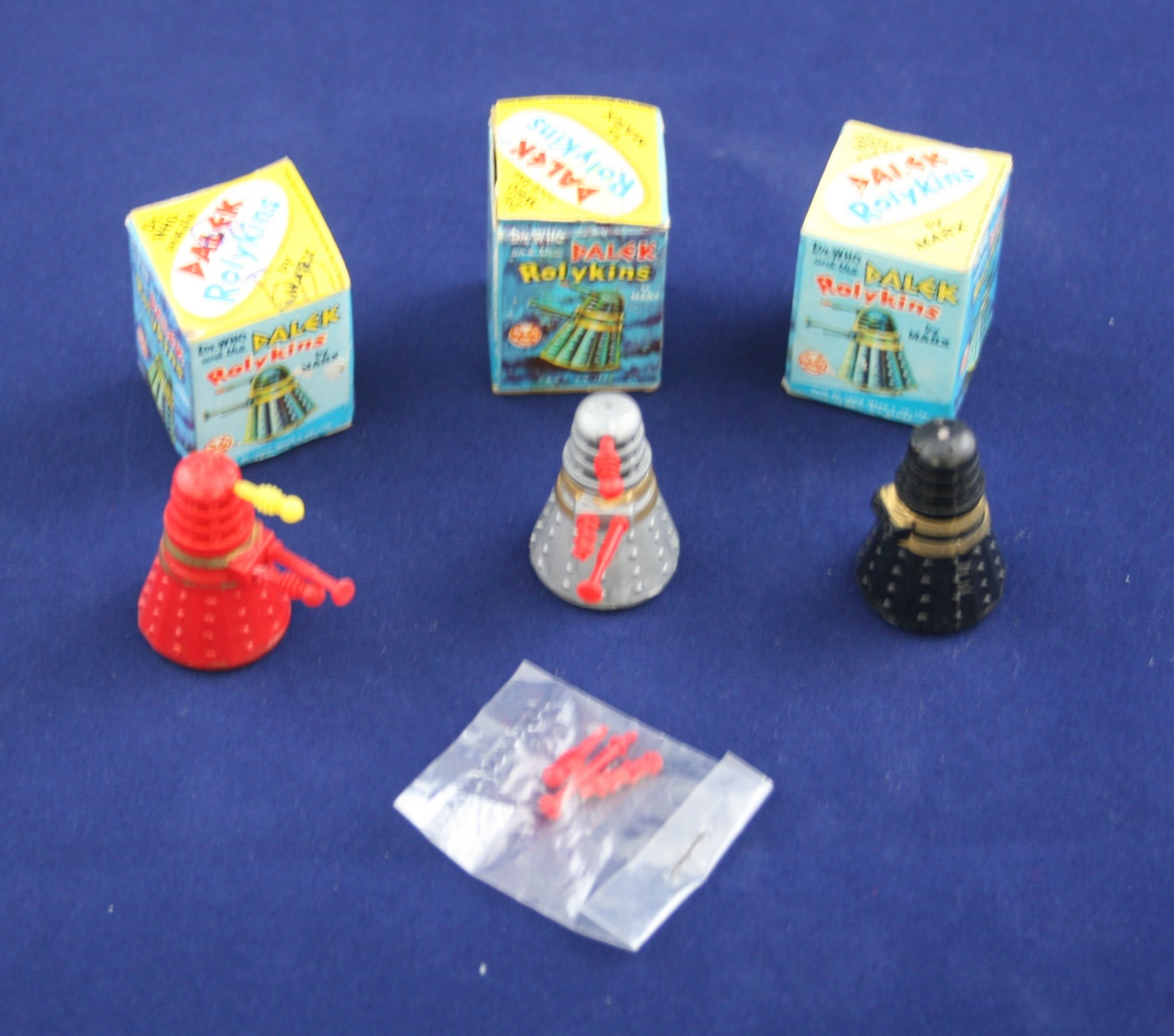 Louis Marx and Company Ltd., all three versions of the Dalek Rolykins