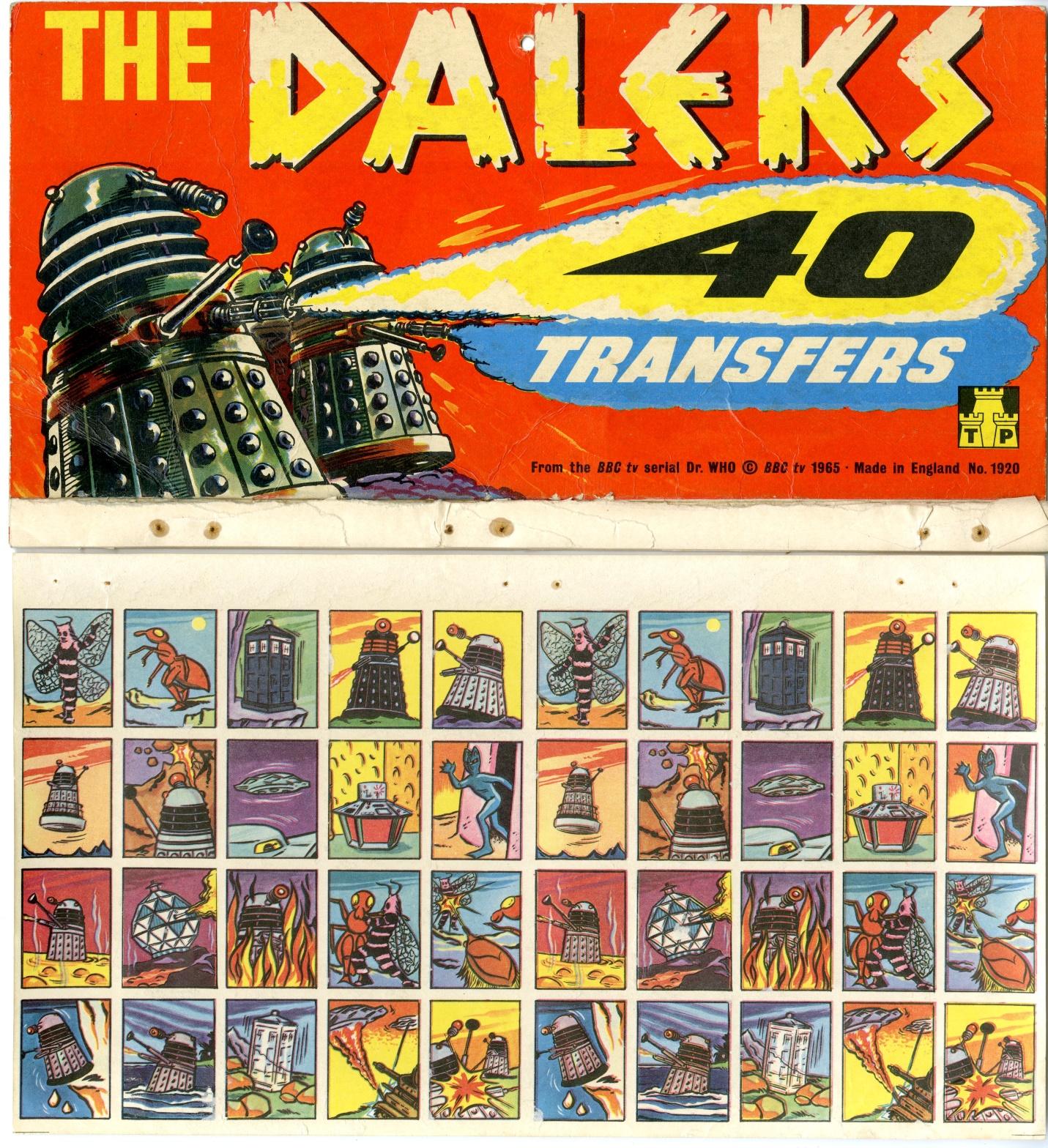S. Guiterman and Company Ltd., Tower Press, Dalek Transfers on shop display card