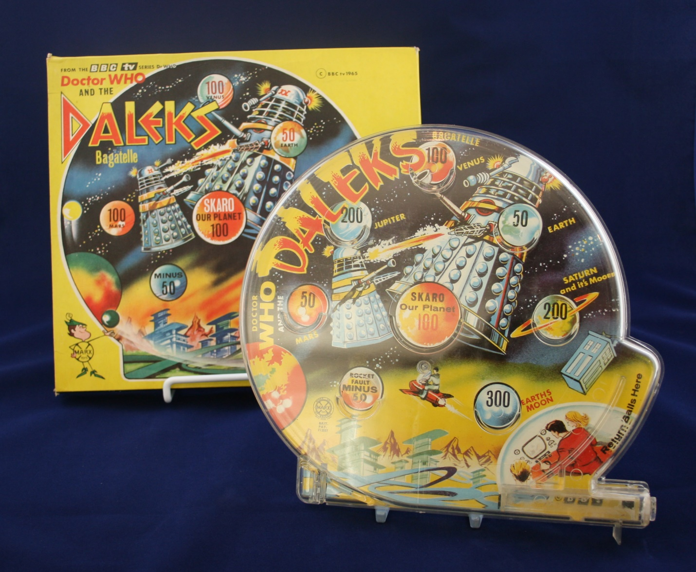 Louis Marx and Company Ltd., large vertical Doctor Who and the Daleks Bagatelle