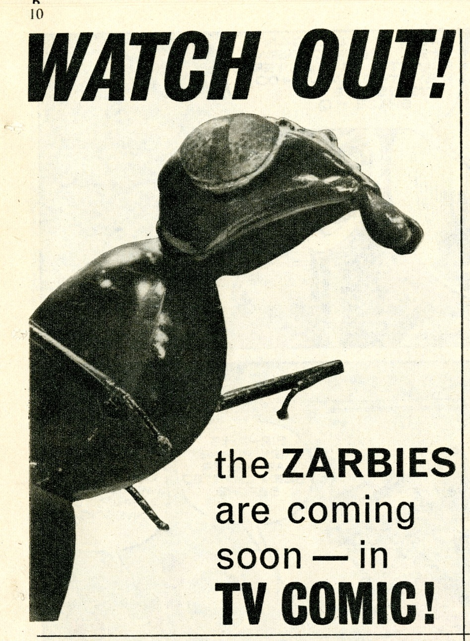 TV Comic #689, February 27, 1965, previewing appearance by the Zarbi