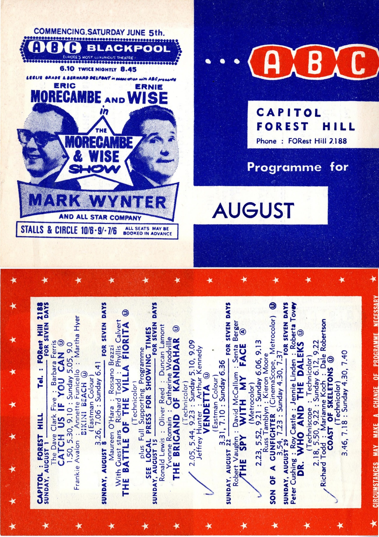 ABC Blackpool Programme for August 1965