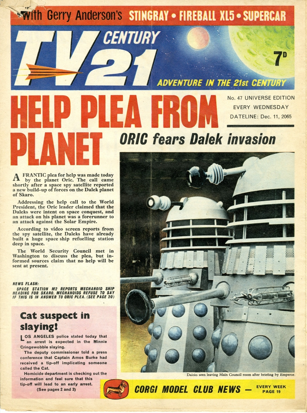 TV Century 21 #47, December 11, 2065 (1965)