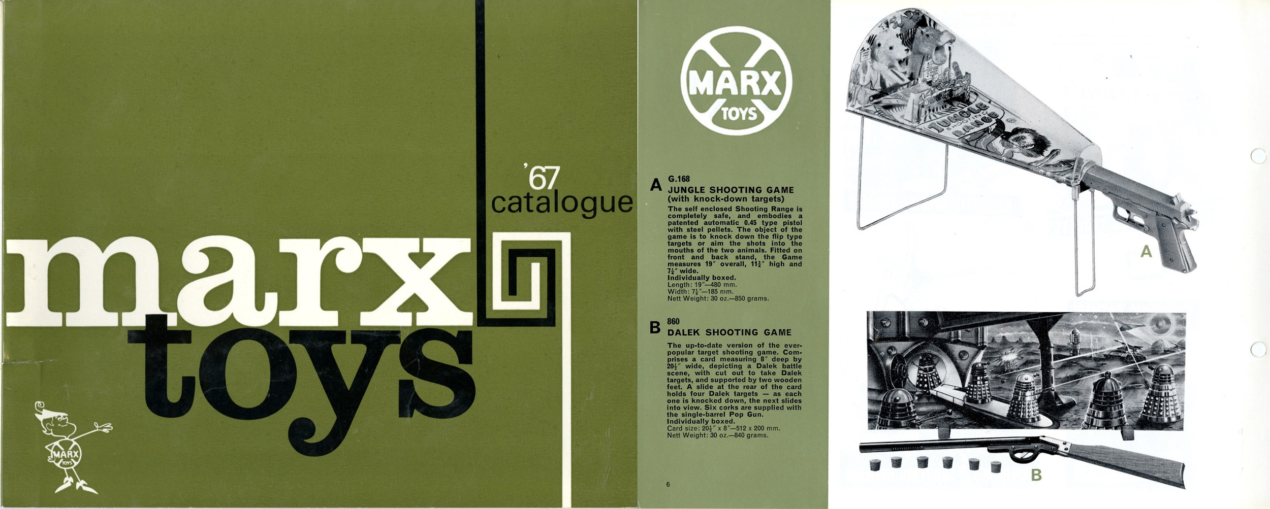 Louis Marx and Company Ltd. 1967 catalogue including the Dalek Shooting Game