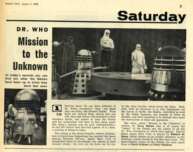 Radio Times, October 9-15, 1965