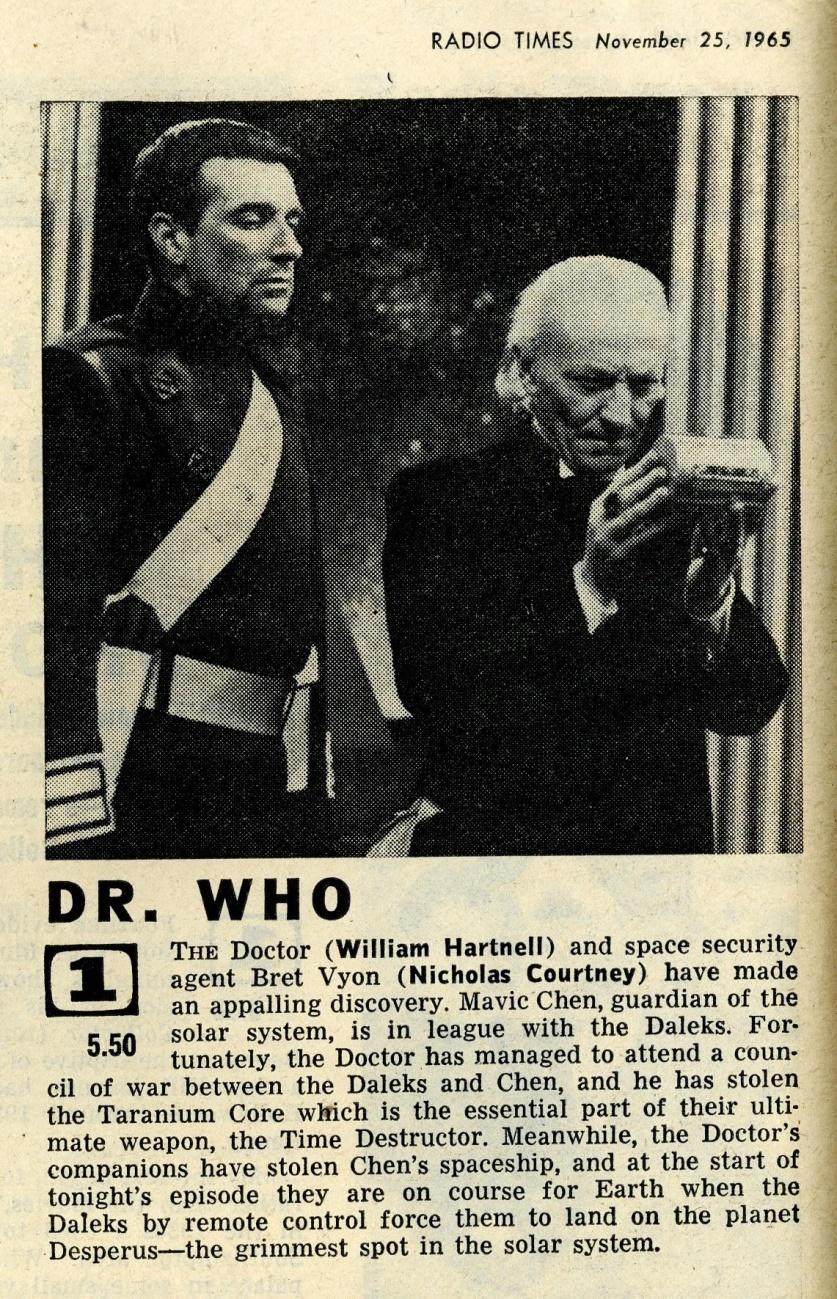 Radio Times, November 27 - December 3, 1965