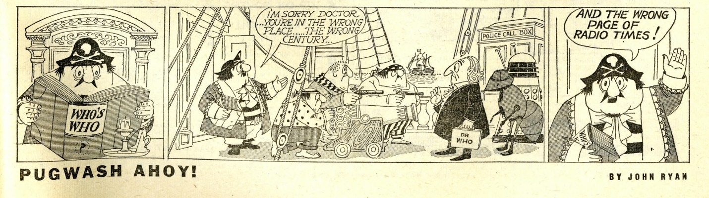 Radio Times, March 27 - April 2, 1965 with Captain Pugwash strip featuring Doctor Who