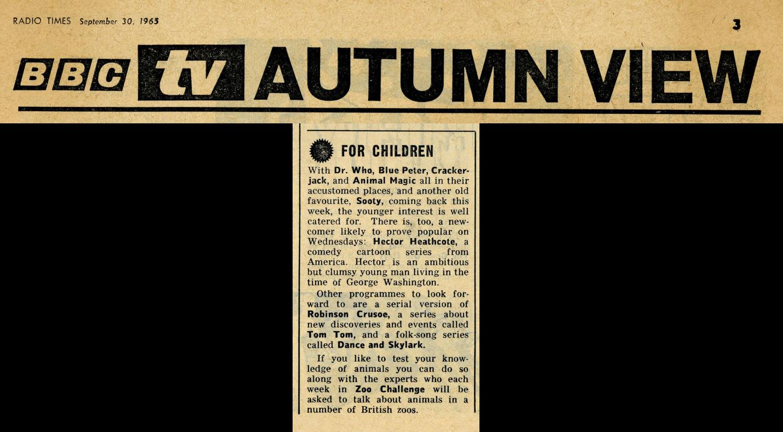 Radio Times, October 2-8, 1965