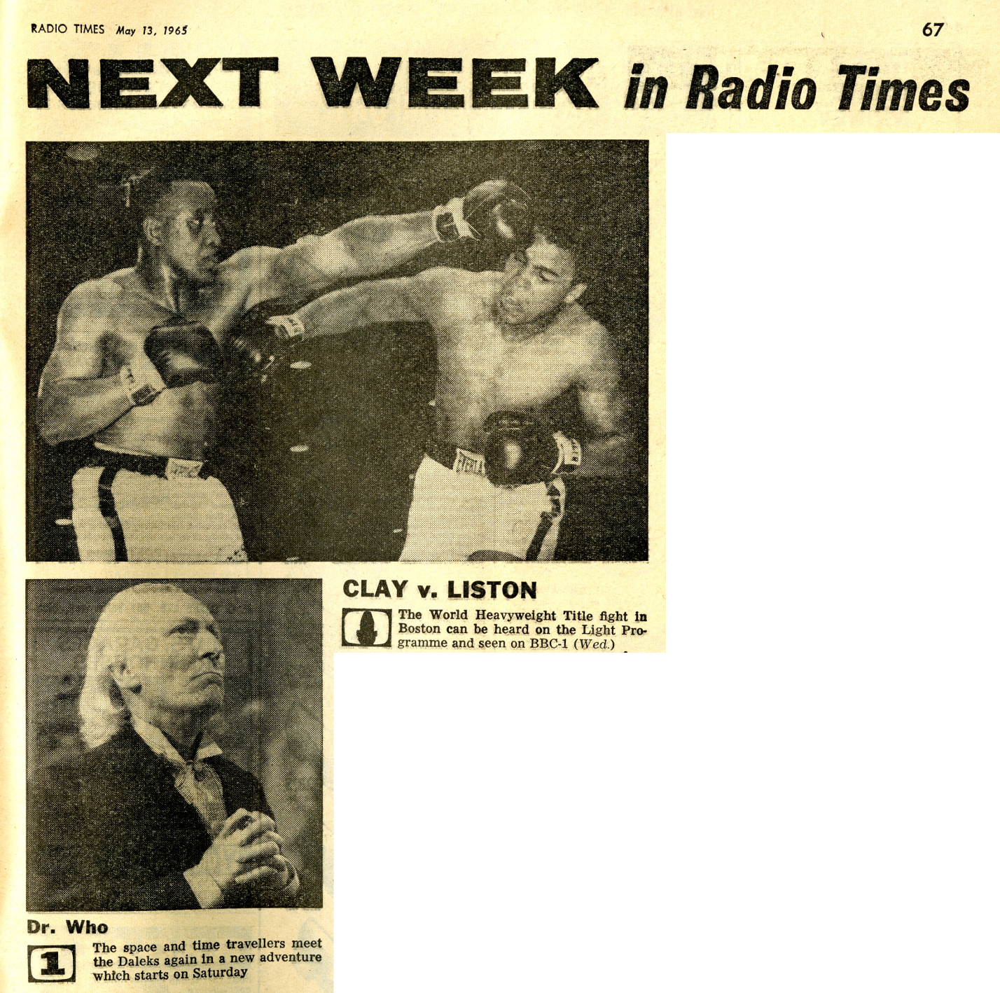 Radio Times, May 15-21, 1965