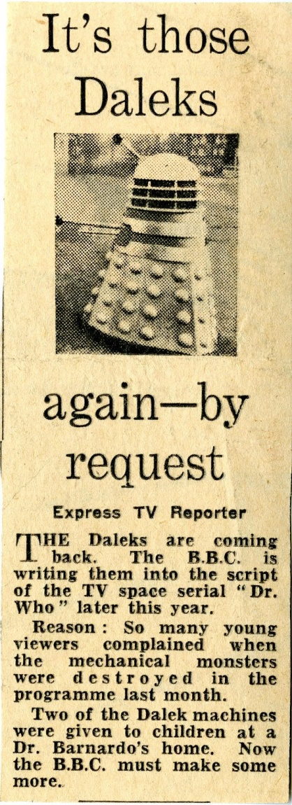 Daily Express, 13 March 1964. From the Ray Cusick cuttings collection