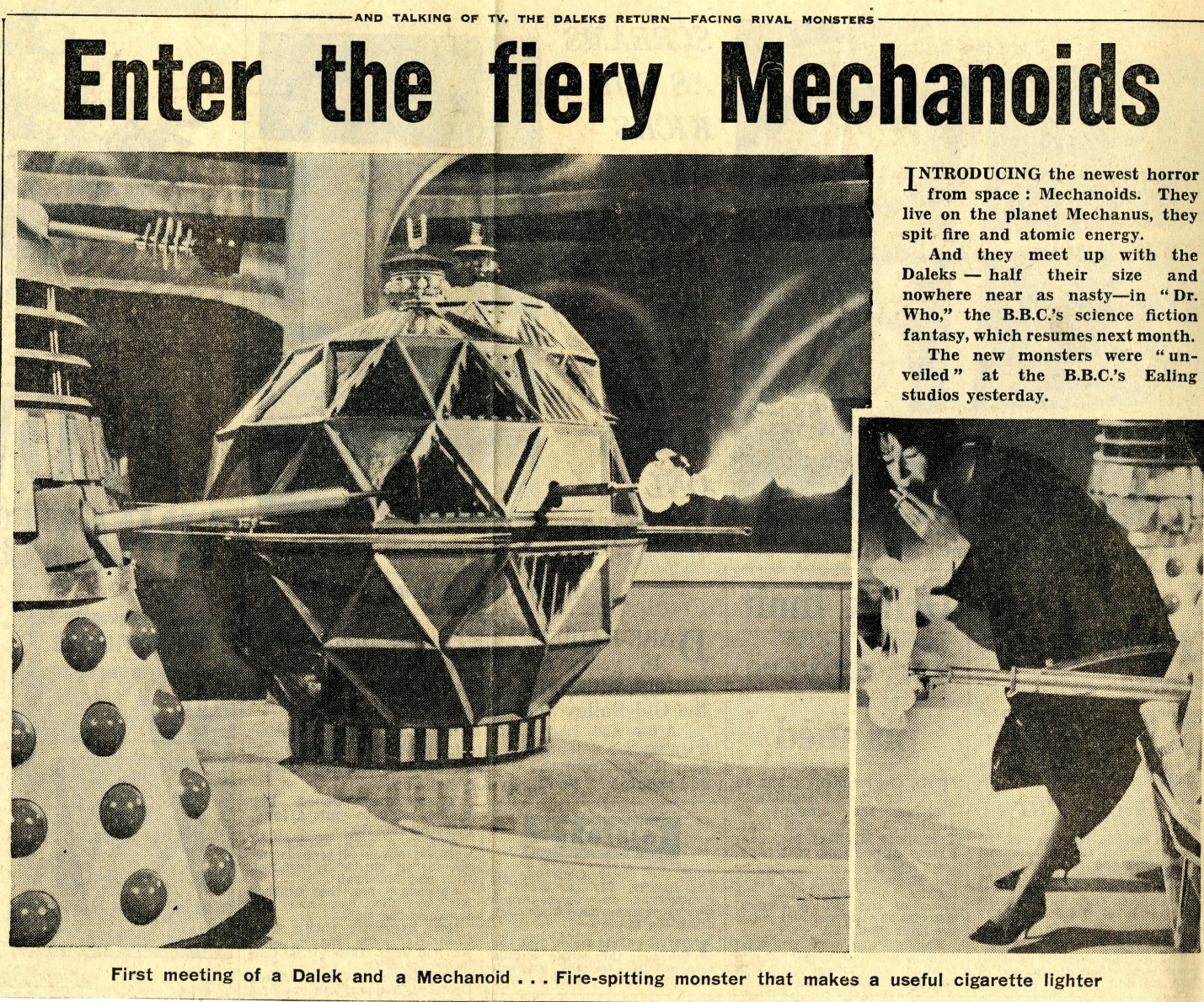 Daily Express, April 15, 1965 (from the Raymond Cusick cuttings collection)