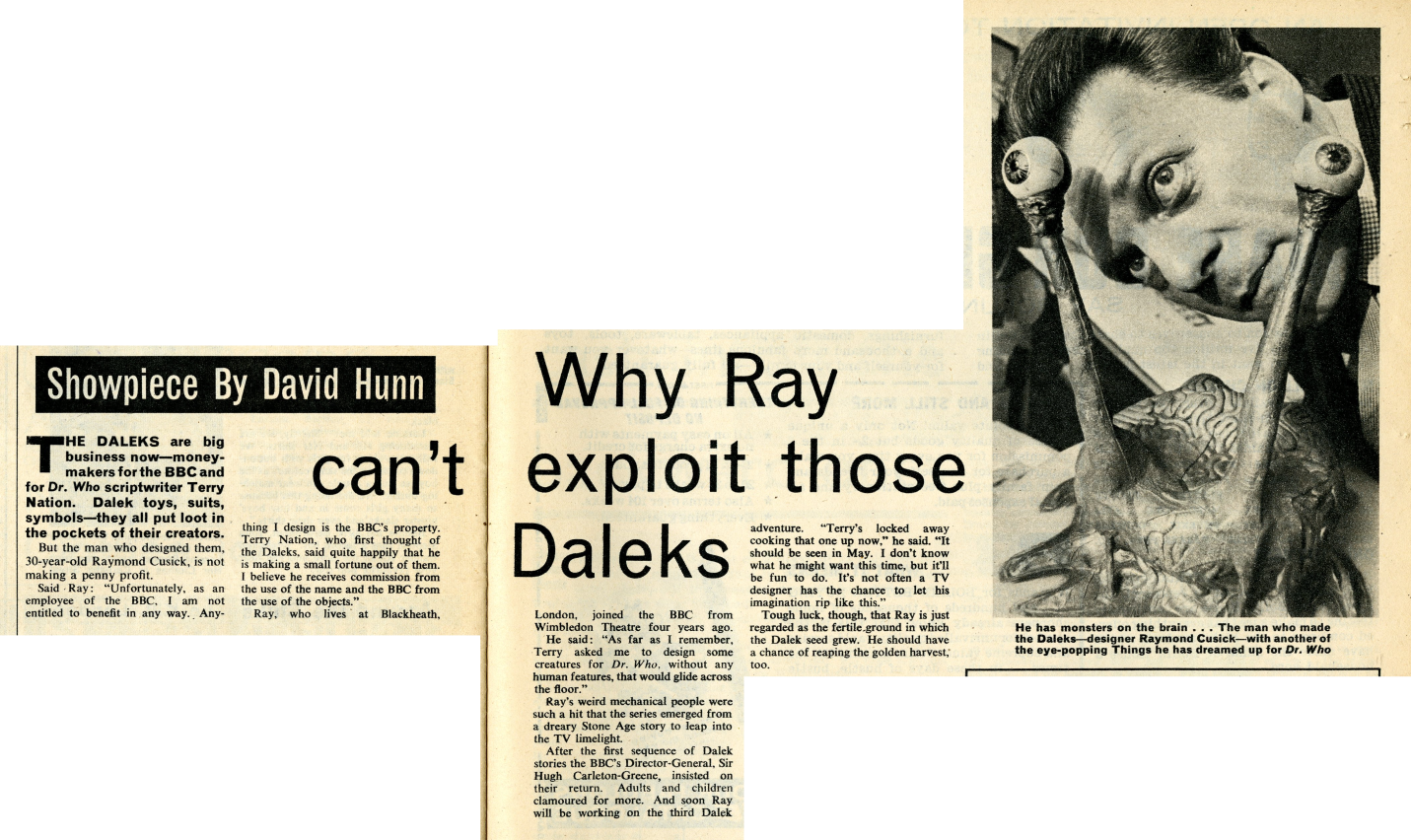 Titbits, February 13, 1965 (from the Raymond Cusick cuttings collection)