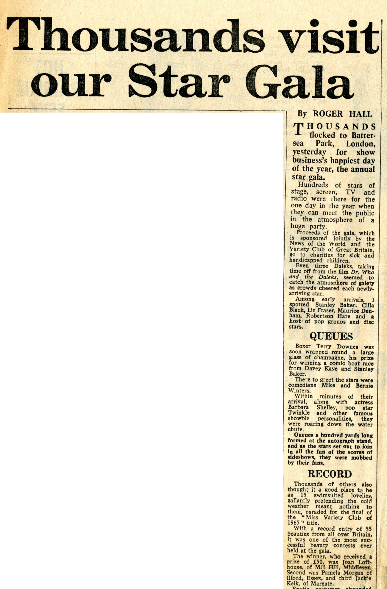 News of the World, May 30, 1965