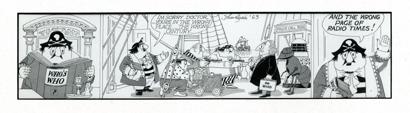 Original artwork for the Captain Pugwash strip used in the Radio Times, March 27 - April 2, 1965