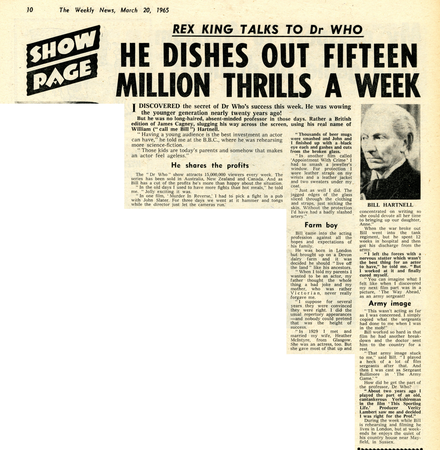 Weekly News, March 20, 1965