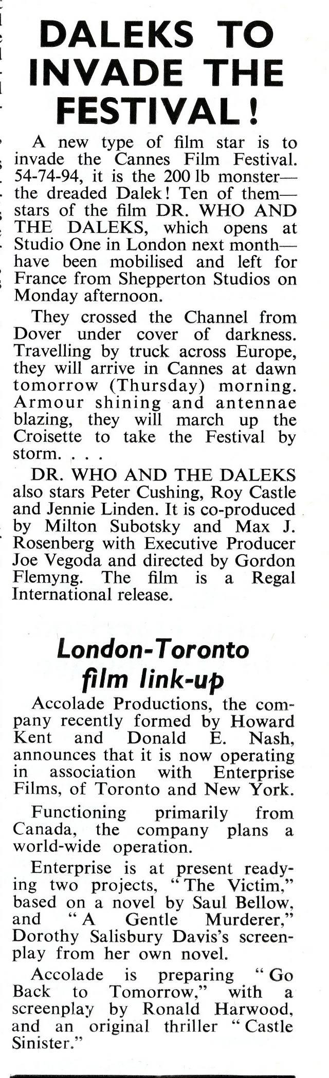 Daily Cinema, 19 May 1965