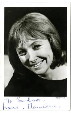 BBC TV Maureen O'Brien Cast Card