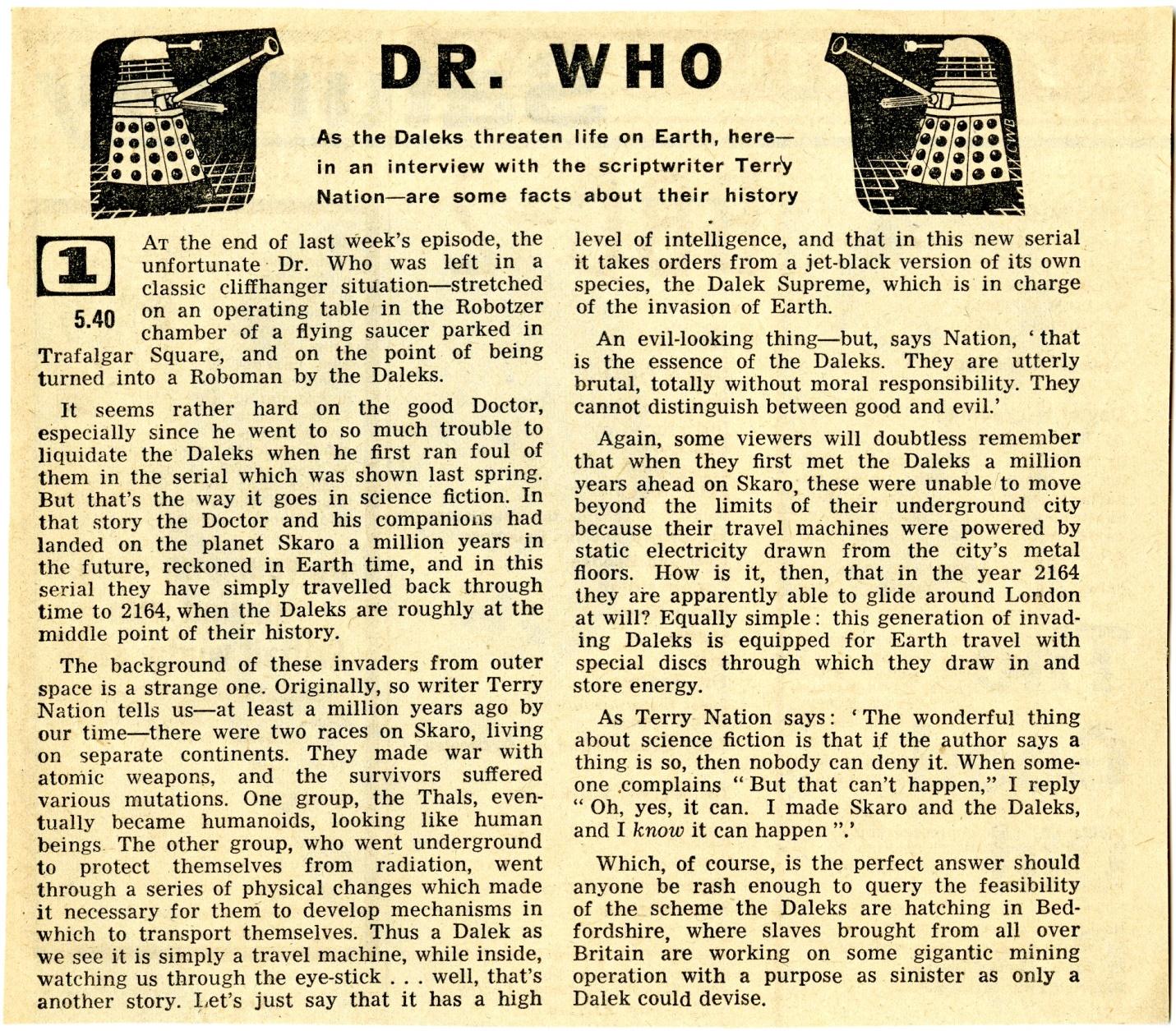 Radio Times, December 5-11, 1964
