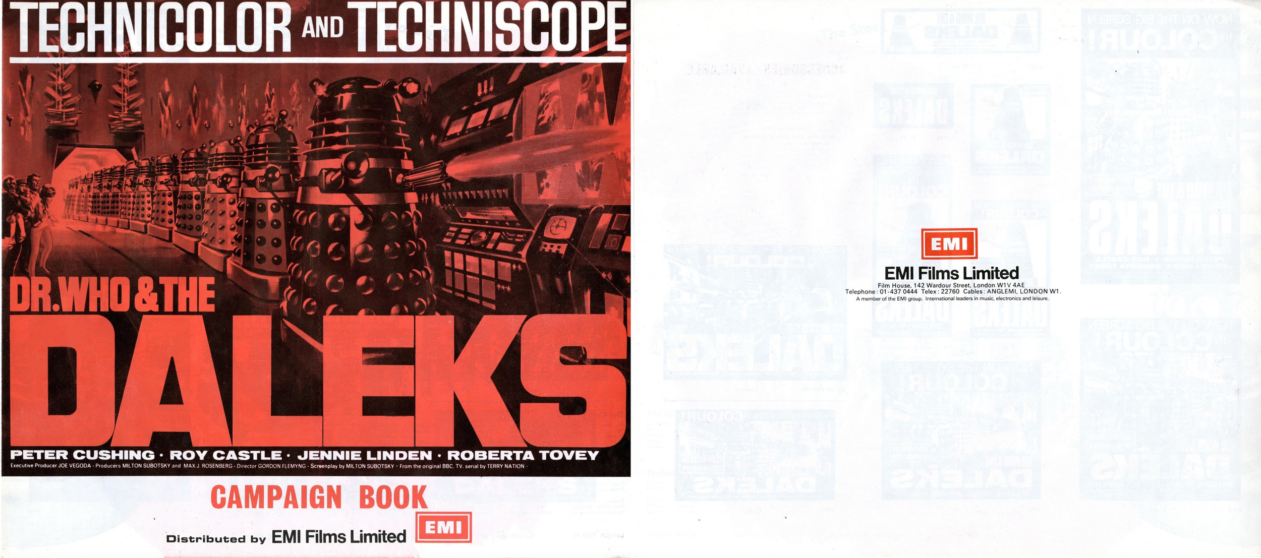 Dr. Who and the Daleks, EMI Films Ltd., Campaign Book (front and back covers)