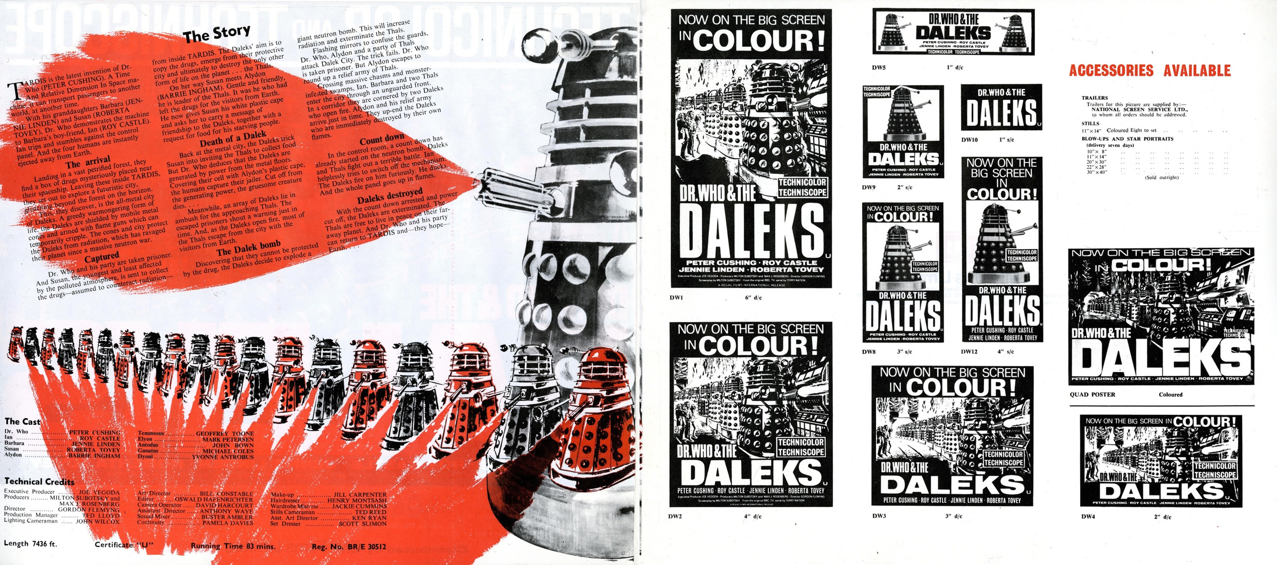 Dr. Who and the Daleks, EMI Films Ltd., Campaign Book (interior pages)